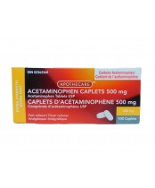 Acetaminophen Caplets 500mg, Pain reliever/Fever Reducer