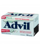 Advil Easy to Swallow Mini-Gels (110 count), fast headache relief/Fever reducer.