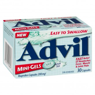 Advil Easy to Swallow Mini-Gels (30 count), fast headache relief/Fever reducer.