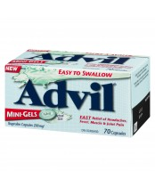 Advil Easy to Swallow Mini-Gels (70 count), fast headache relief/Fever reducer.