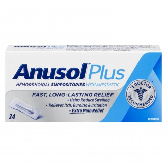 Anusol Hemorrhoidal Suppositories With Anesthetic