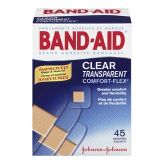 Band-Aid Clear Transparent Comfort-Flex Adhesive Bandages