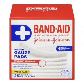 Band-Aid Medium Sterile Gauze Pads Value Pack