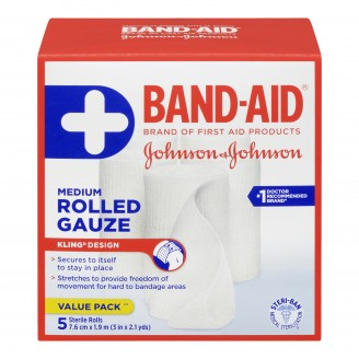 Band-Aid Medium Sterile Rolled Gauze Value Pack
