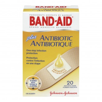Band-Aid Plus Antibiotic Adhesive Bandages