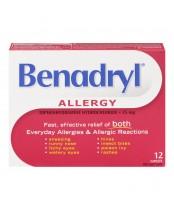 Benadryl Allergy Antihistamine Caplets