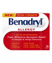 Benadryl Allergy Tablet Extra Strength