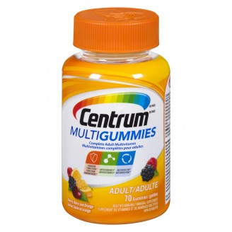 Centrum Multivitamin MultiGummies for Adults Cherry, Berry, and Orange Flavour 70's