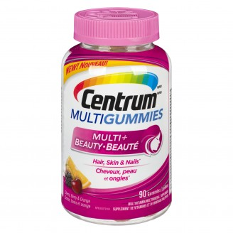 Centrum Multivitamin Multigummies Multi + Beauty Cherry, Berry, Orange Flavours