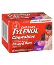 Children's Tylenol Chewables, Fever & Pain Relief ( 20 Tablets )