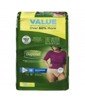 Depend  Fit-Flex Medium Maximum Absorbency Underwear For Women Value Pack