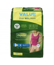 Depend  Fit-Flex Small Maximum Absorbency Underwear For Women Value Pack