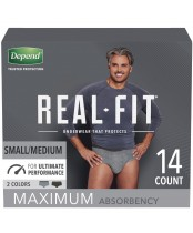 Depend Real Fit Underwear for Men Maximum Absorbency 14 Count
