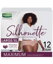 Depend Silhouette Underwear for Women Maximum Absorbency 12 Count