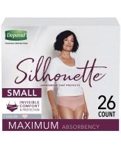 Depend Silhouette Underwear for Women Maximum Absorbency 26 Count