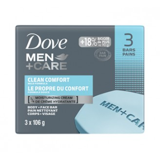 Dove Men + Care Body and Face Bar, Clean Comfort