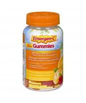 Emergen-C Gummies Vitamin C Supplement Orange, Tangerine, & Raspberry Flavour