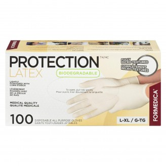 Formedica Protection Latex Lightly Powdered With Corn Starch All Purpose Gloves Large/X-Large