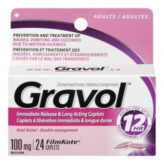 Gravol Immediate Release & Long Acting Caplets