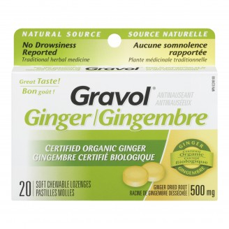Gravol Natural Source Certified Organic Ginger Lozenges