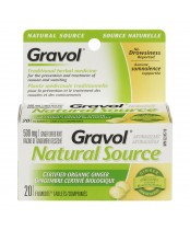 Gravol Natural Source Certified Organic Ginger Tablets