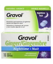 Gravol Natural Source Ginger Nighttime