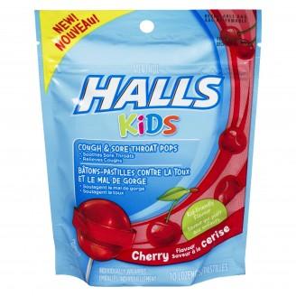Halls Kids Cough & Sore Throat Cherry Pops