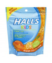 Halls Kids Cough & Sore Throat Orange Pops