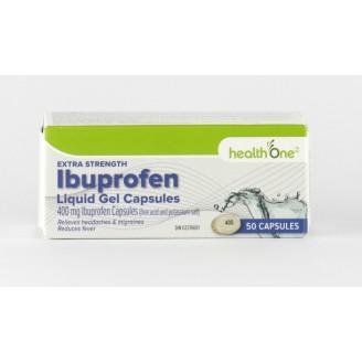 health One Extra Strength Ibuprofen Liquid Gel Capsules
