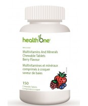 health One Multivitamins & Minerals Chewable Tablets - Berry Flavour