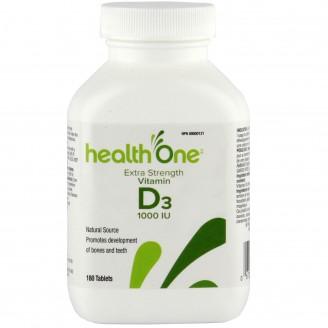 health One Vitamin D  1000IU Tab 180's