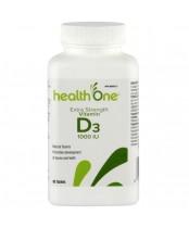health One Vitamin D 1000IU Tab 90's