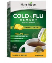 Herbion Naturals Cold and Flu - Lemon Flavour