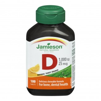 Jamieson Chewable Vitamin D 1,000 IU