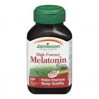 Jamieson High Potency Melatonin 5 mg Fast-Dissolving Tablets