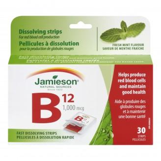 Jamieson Vitamin B12 1,000 mcg Strips (Methylcobalamin)