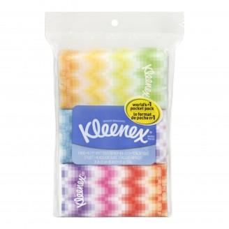 Kleenex 3-Ply White Tissue Pocket Packs