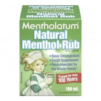 Mentholatum Natural Menthol Rub