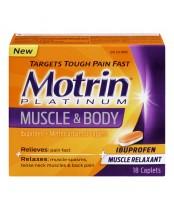 Motrin Platinum Ibuprofen Muscle and Body Caplets