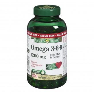 Nature's Bounty Omega 3-6-9 Fish, Flax and Borage