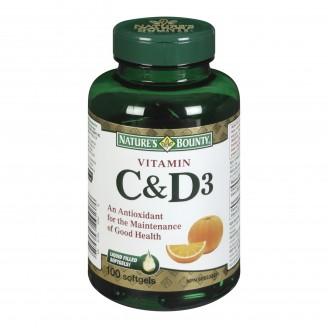 Nature's Bounty Vitamin C & D3