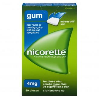 Nicorette Extreme Chill Mint Gum 4mg