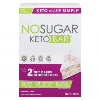 No Sugar Keto Bar Birthday Cake