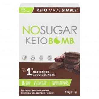 No Sugar Keto Bomb Dark Chocolate Fudge Brownie