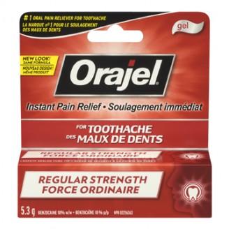 Orajel Regular Strength Toothache Pain Relief Gel