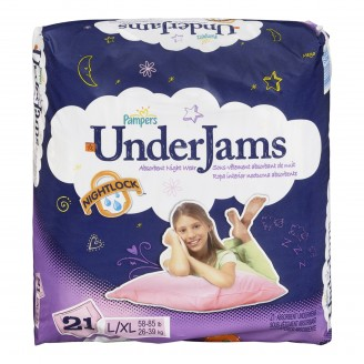 Pampers Underjams Absorbent Night Wear for Girls (Pack of 3)