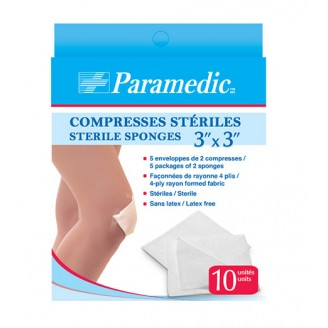 Paramedic Sterile Sponges 3 Inch x 3 Inch