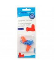 PharmaSystems uHear Soft Foam Ear Plugs with Cord