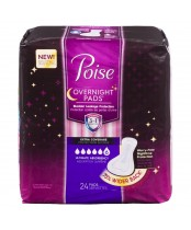 Poise Overnight Pads Extra Coverage Ultimate Absorbency