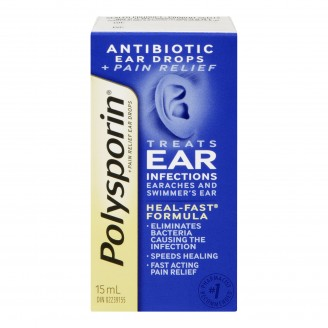 Polysporin Antibiotic Ear Drops + Pain Relief